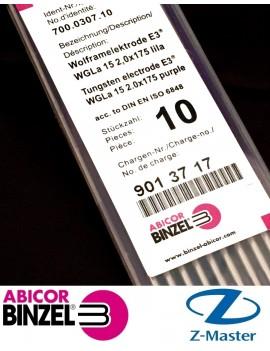 Вольфрамовый электрод Е3 2,0 мм х175 фиолетовый Абикор Бинцель