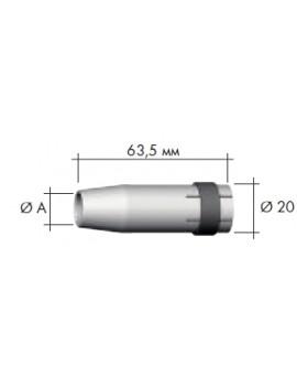 Сопло цилиндрическое D 17/63,5 Abicor Binzel 145.0047