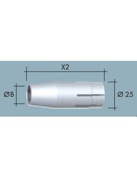 Сопло газовое коническое D 15,5/64,5 NW-15,5 Abicor Binzel 145.0106