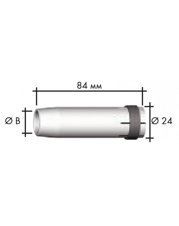 Сопло газовое коническое D 16/84 Abicor Binzel 145.0078