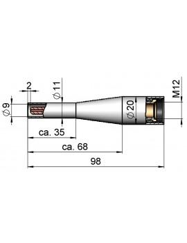 Коническое сопло газовое D 9/98 M12 NW-9 Binzel 145.D450
